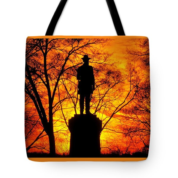 Sky Fire - Flames Of Battle 50th Pennsylvania Volunteer Infantry-a1 Sunset Antietam Tote Bag by Michael Mazaika