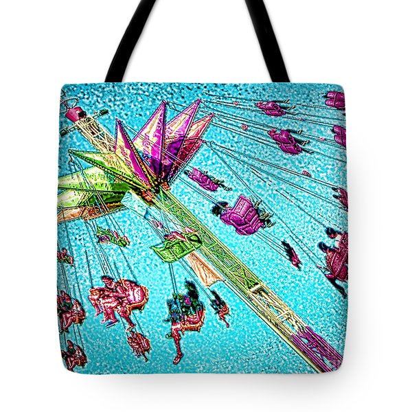 Tote Bag featuring the digital art Sky Flyer by Jennie Breeze