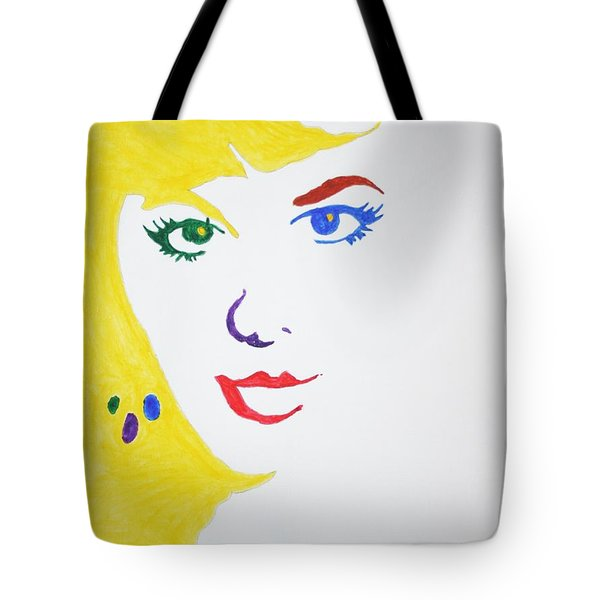 Tote Bag featuring the painting Blonde Mother Nature by Stormm Bradshaw