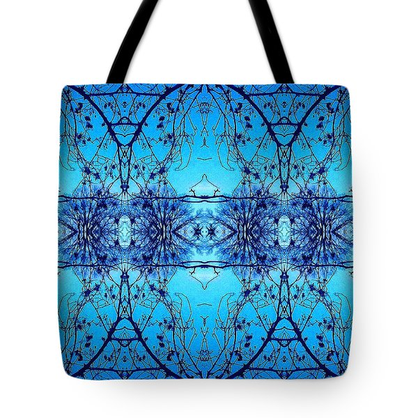 Sky Lace Abstract Photo Tote Bag