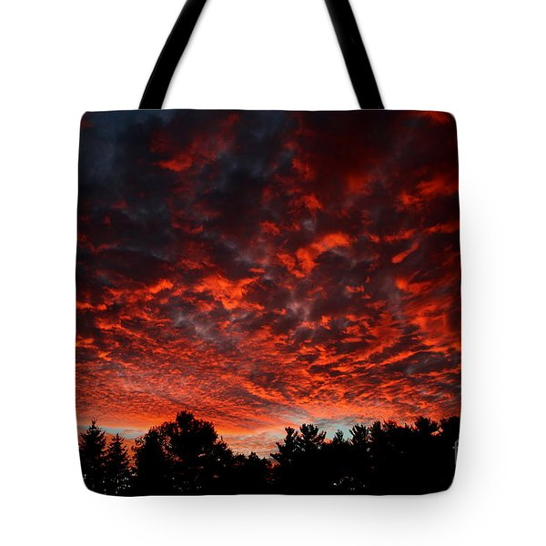 Sky On Fire Tote Bag by Kenny Glotfelty
