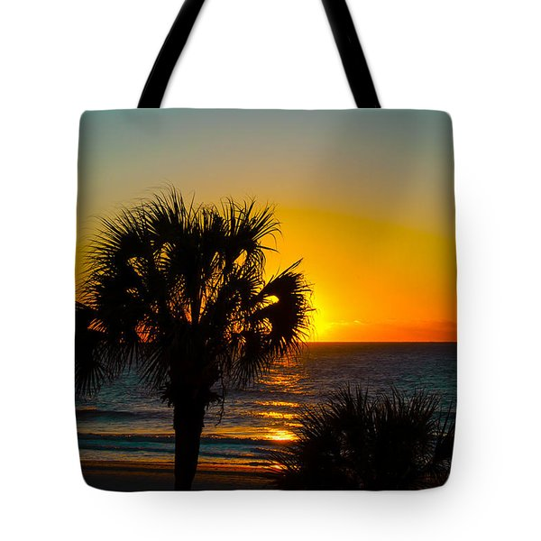Sky On Fire Tote Bag