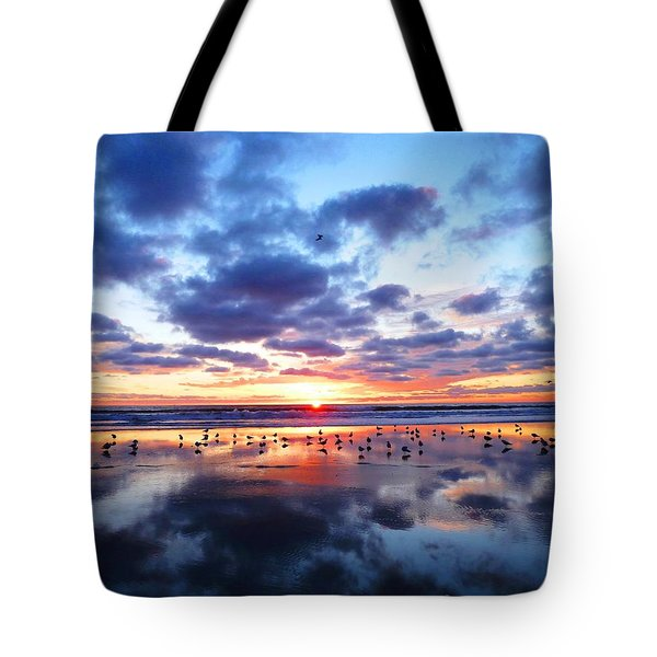 Sky Reflections Tote Bag by Julia Ivanovna Willhite