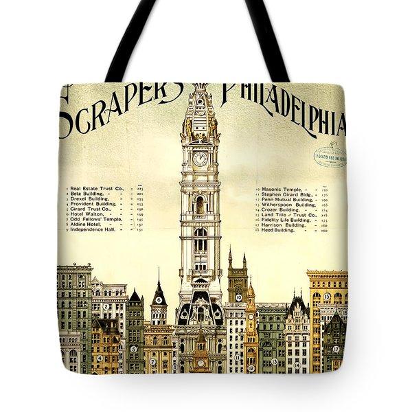 Sky Scrapers Of Philadelphia 1896 Tote Bag by Bill Cannon