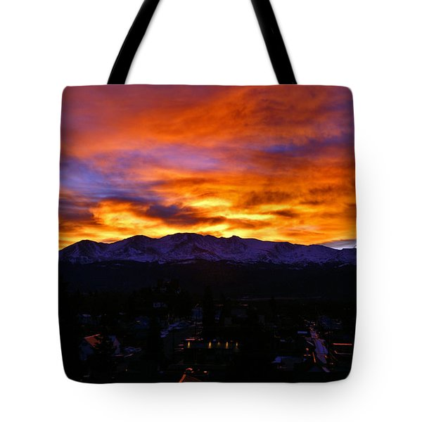 Tote Bag featuring the photograph Sky Shadows by Jeremy Rhoades