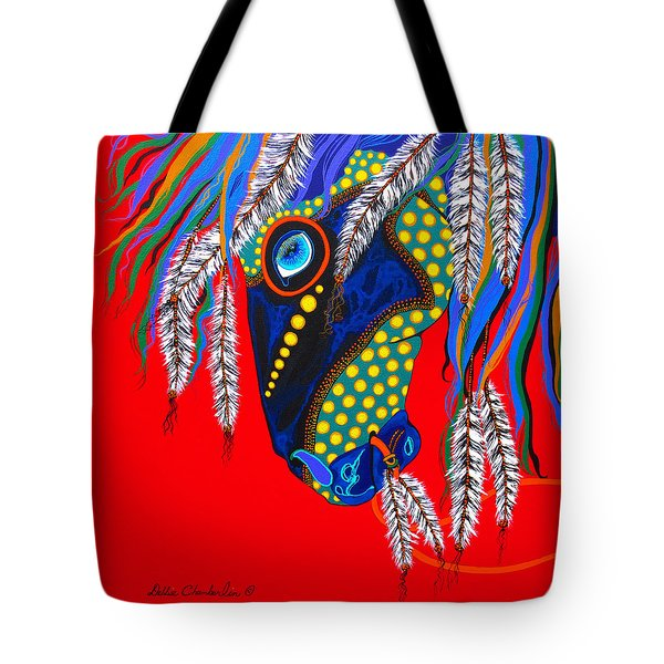Tote Bag featuring the painting Sky Spirit by Debbie Chamberlin