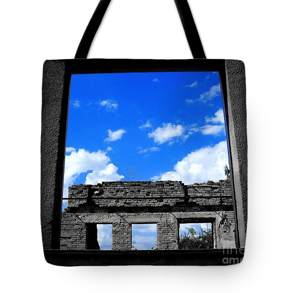 Tote Bag featuring the photograph Sky Windows by Nina Ficur Feenan