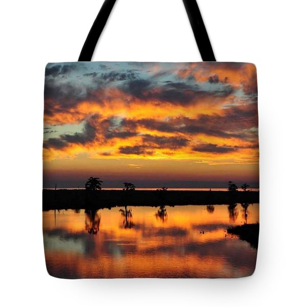 Sky Writing Tote Bag by Charlotte Schafer