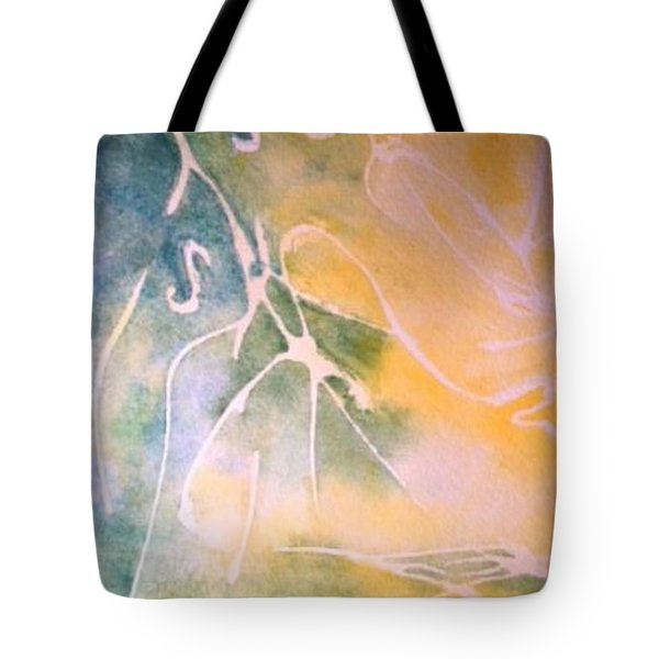Sky Writing Tote Bag