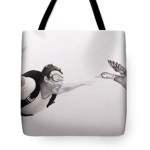 Skydiver Tote Bag by Angel Ortiz