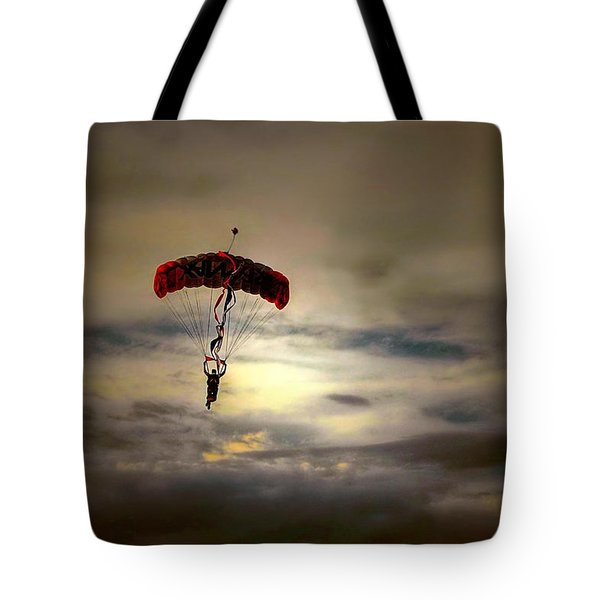 Evening Skydiver Tote Bag
