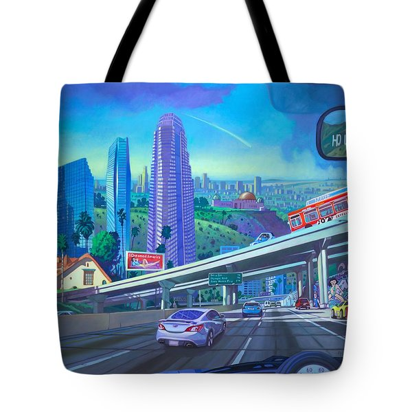 Tote Bag featuring the painting Skyfall Double Vision by Art James West