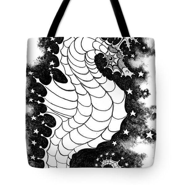 Tote Bag featuring the digital art Skyhorse by Carol Jacobs