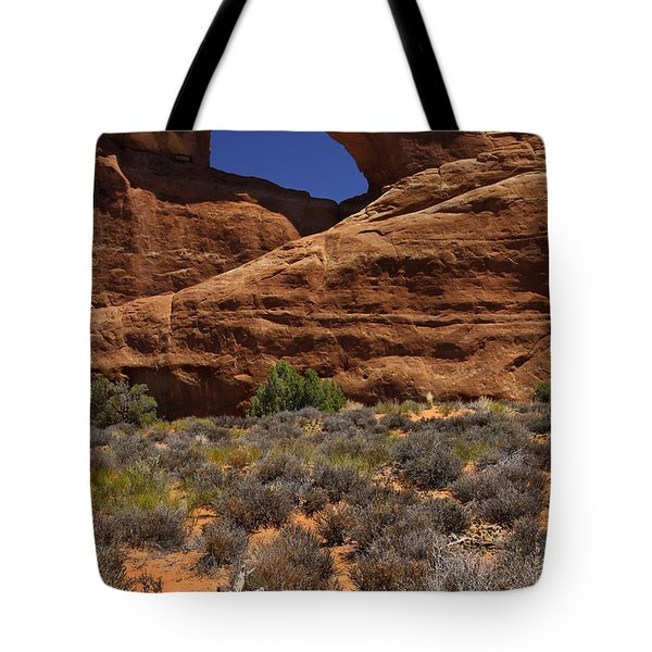 Skyline Arch - Arches National Park Tote Bag by Mike McGlothlen