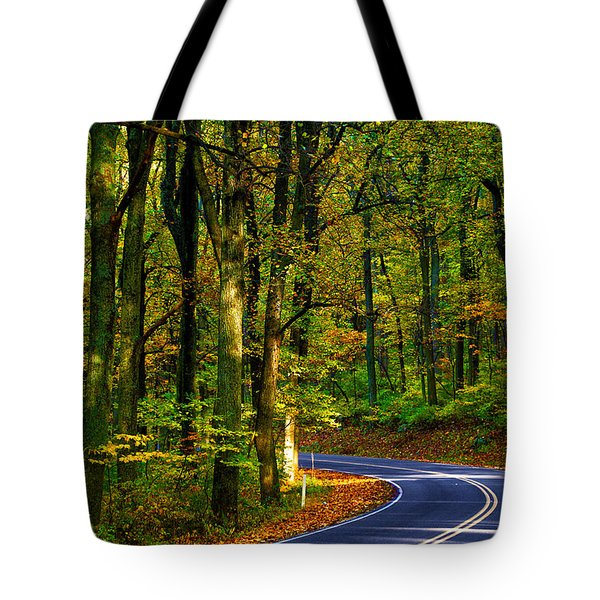 Skyline Drive Tote Bag by Mitch Cat