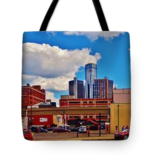 Skyline From The Inside... Detroit Tote Bag
