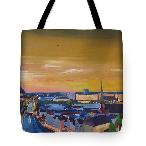 Skyline Of Berlin At Sunset Tote Bag by M Bleichner