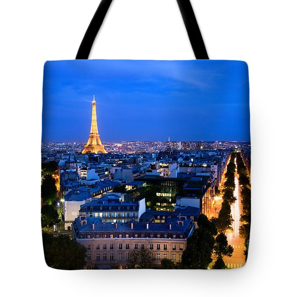 Skyline Of Paris Tote Bag