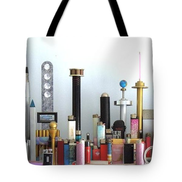 Skyline Sculpture Tote Bag by Ron Davidson