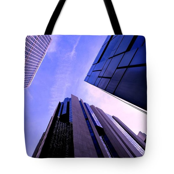 Tote Bag featuring the photograph Skyscraper Angles by Matt Harang