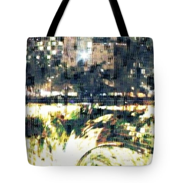 Skyscraper Reflection Painting Tote Bag by PainterArtist FIN