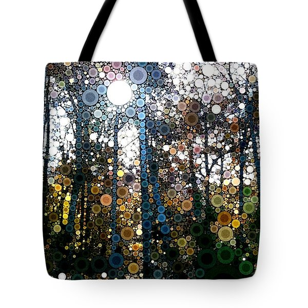 Skyway Forest At Dawn Tote Bag by Linda Bailey