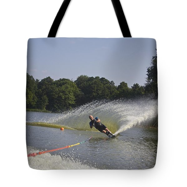 Slalom Waterskiing Tote Bag