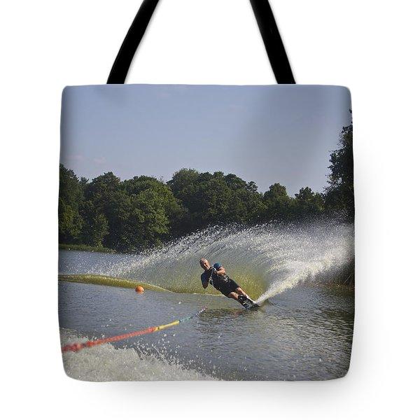 Slalom Waterskiing Tote Bag
