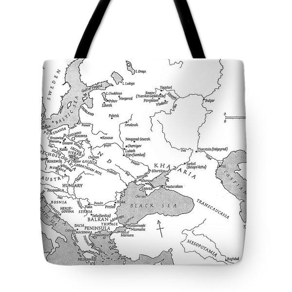 Slavic Population Map Tote Bag