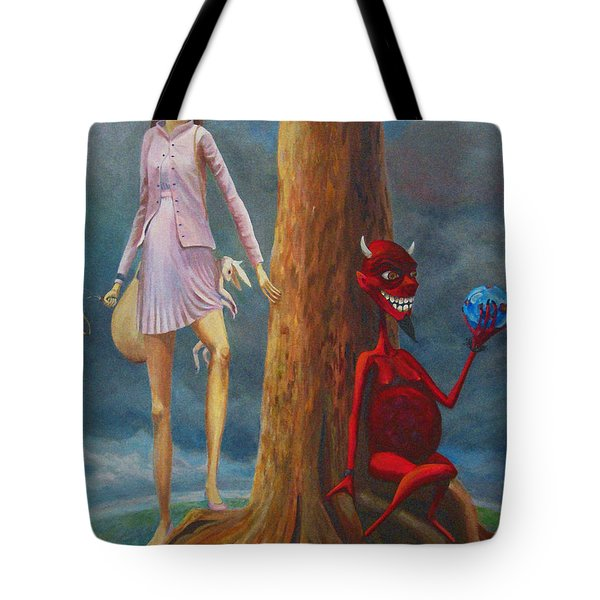 Slaying The Devil Who Eats My Dreams Tote Bag by Mindy Huntress
