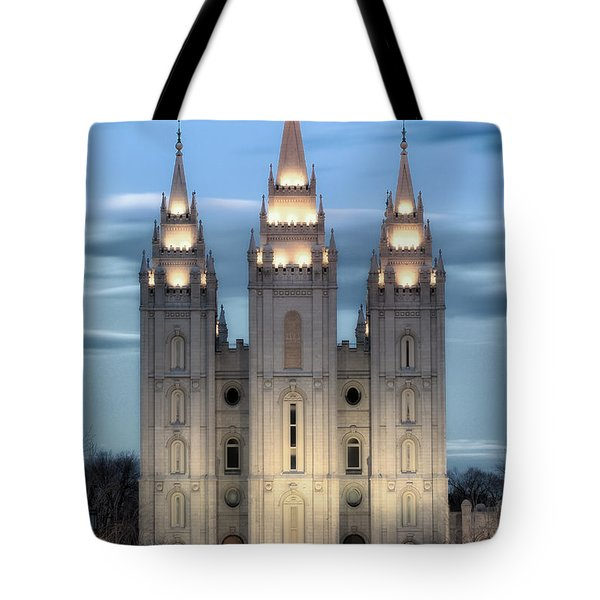 Slc Temple Blue Tote Bag