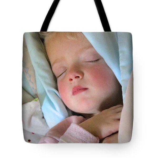 Sleeping Angel Tote Bag