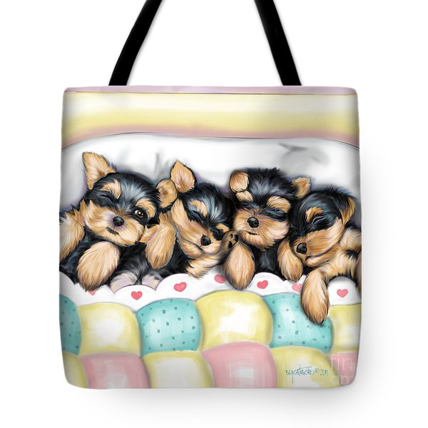 Sleeping Babies Tote Bag