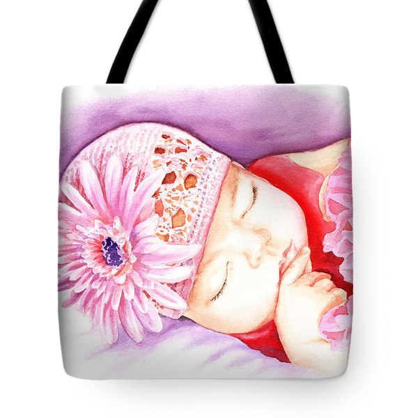 Sleeping Baby Tote Bag