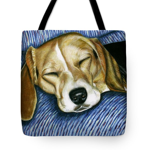 Sleeping Beagle Tote Bag
