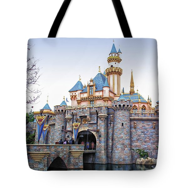 Sleeping Beauty Castle Disneyland Side View Tote Bag