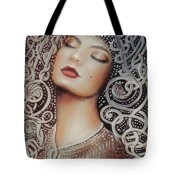 Tote Bag featuring the painting Sleeping Beauty by S G
