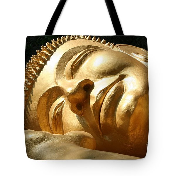 Tote Bag featuring the photograph Sleeping Buddha by Nola Lee Kelsey