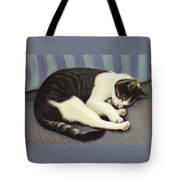 Sleeping Cat Tote Bag by Blue Sky