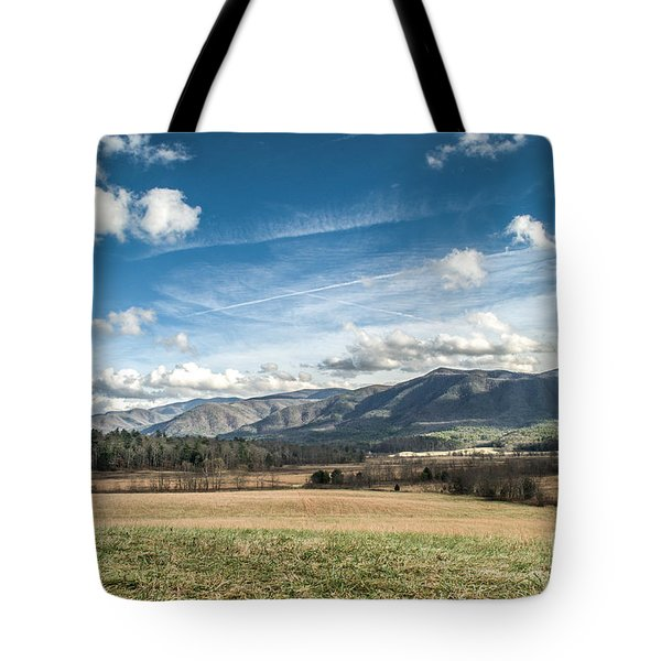 Tote Bag featuring the photograph Sleeping Giants In Cades Cove by Debbie Green
