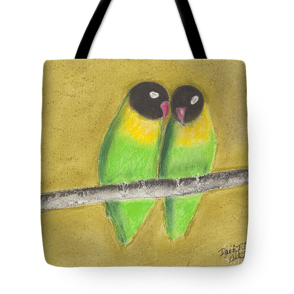 Sleeping Love Birds Tote Bag by David Jackson