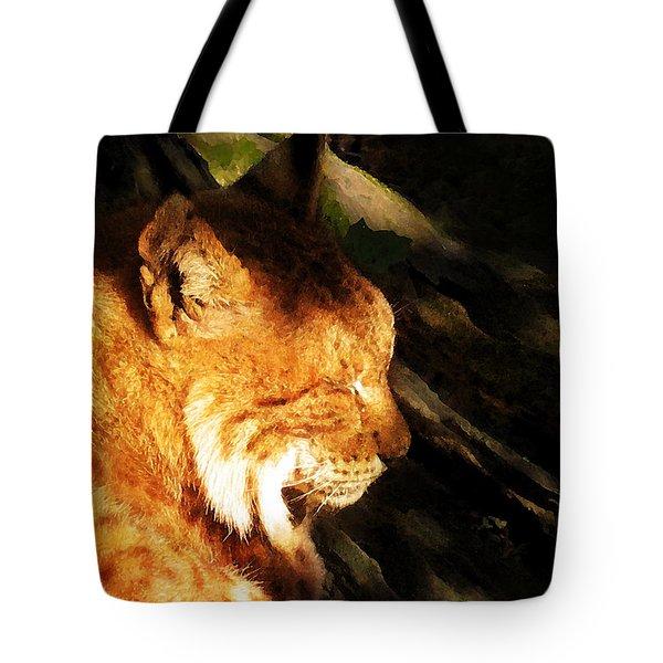 Sleeping Lynx  Tote Bag