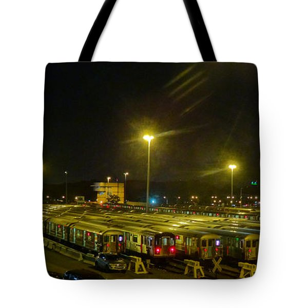 Sleeping Subways Tote Bag by Jeffrey Friedkin