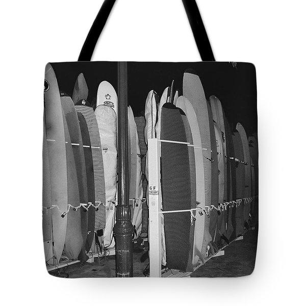 Sleeping Surfboards Tote Bag