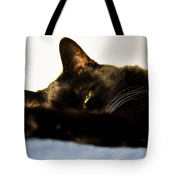 Sleeping With One Eye Open Tote Bag by Bob Orsillo