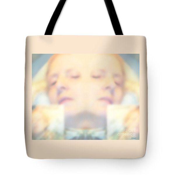 Sleeping Woman Drifting In Dreams Tote Bag by Marian Cates