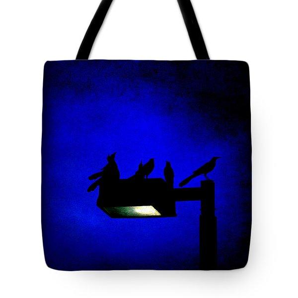 Sleepless At Midnight Tote Bag