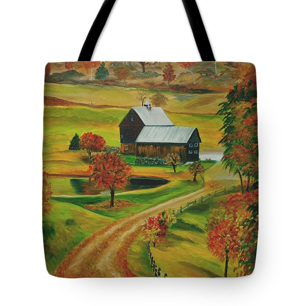 Sleepy Hollow Farm Tote Bag by Julie Brugh Riffey