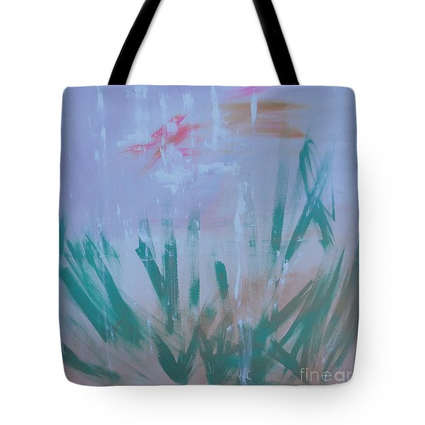 Tote Bag featuring the painting Sleepy Pond by PainterArtist FIN