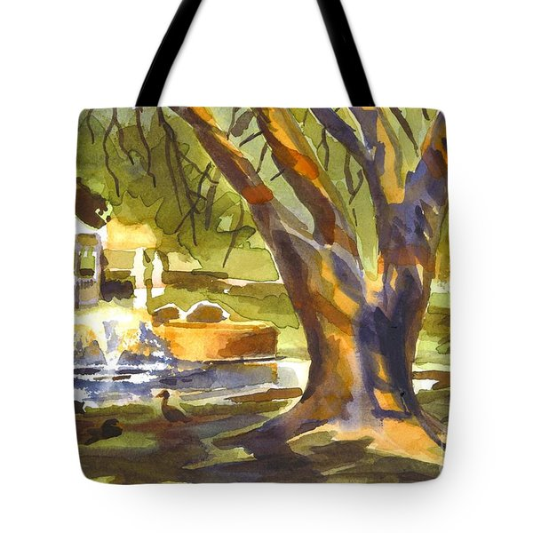 Sleepy Summers Morning Tote Bag
